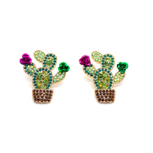 Load image into Gallery viewer, Bloomed Cactus Earrings