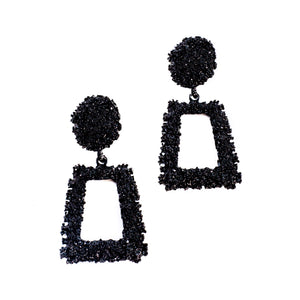 Black As Night Drop Earrings