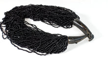 Load image into Gallery viewer, Beaded Strings Black Necklace