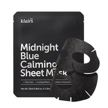 Afbeelding in Gallery-weergave laden, Klairs Midnight Blue Calming Sheet Mask