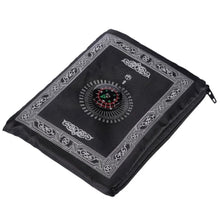 Load image into Gallery viewer, Pocket Sized Travel Prayer Mat With Compass