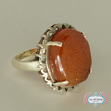 Load image into Gallery viewer, Aqeeq Yemeni Ring (Reddish-Brown)