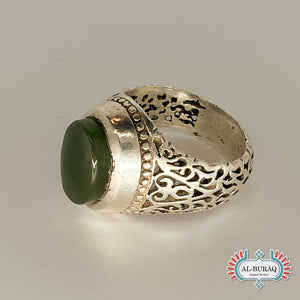 Islamic Ring (Green)-al-Burāq