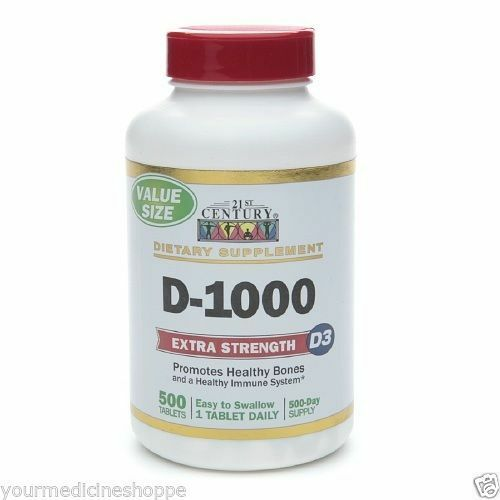 21st Century D-1000 Extra Strength D3 Tablets 500ea 740985271391T402