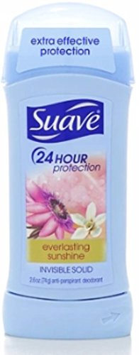 Suave 24hr Protection Antiperspirant & Deodorant Invisible Solid, Everlasting Sunshine 2.6 oz