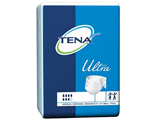 MCK67203100 - Adult Incontinent Brief TENA Ultra Tab Closure Medium Disposable Heavy Absorbency