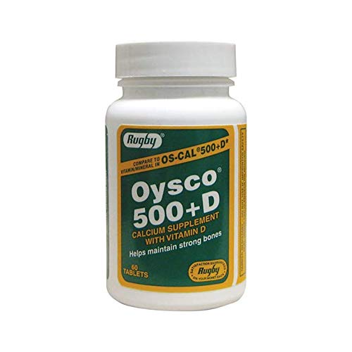 CALCIUM OYSCO+D 500MG TABLET 60CT RUGBY