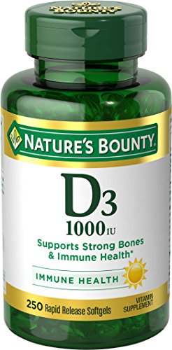 Nature's Bounty Vitamin D-1000 IU, Rapid Release Softgels, 250 Count