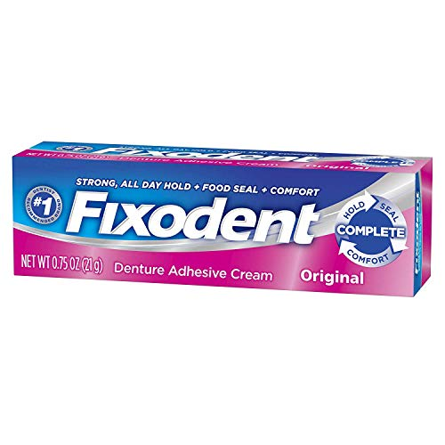 Fixodent Denture Adhesives Cream, Original - 0.75 Oz