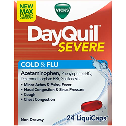 DAYQUIL SEVERE COLD/FLU LIQUID CAP 24CT