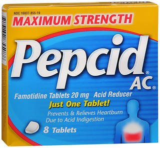 Pepcid AC Maximum Strength Acid Reducer Tablets - 8 ct, Pack of 4