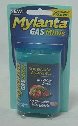MYLANTA GAS MINI TAB ASSORTED FRUIT 50CT