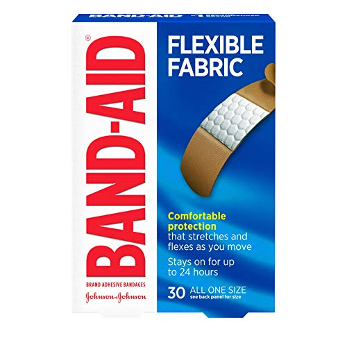 Band-Aid Brand Flexible Fabric Adhesive Bandages for Wound Care and First Aid, All One Size, 30 ct
