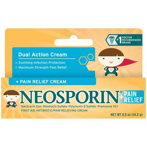 Neosporin Soothing Infection Protection Cream for Kids with Pain Relief 0.5 oz. - 72 per case.