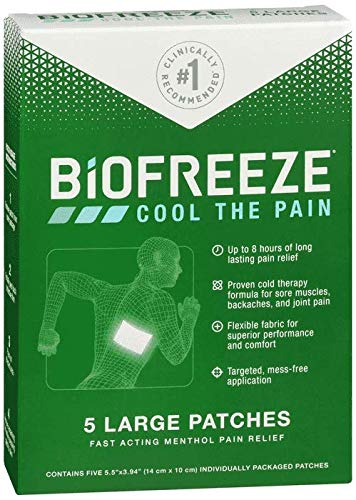 Cool Pain Relief Patch, Large, 5 Patches (Pack of 2)