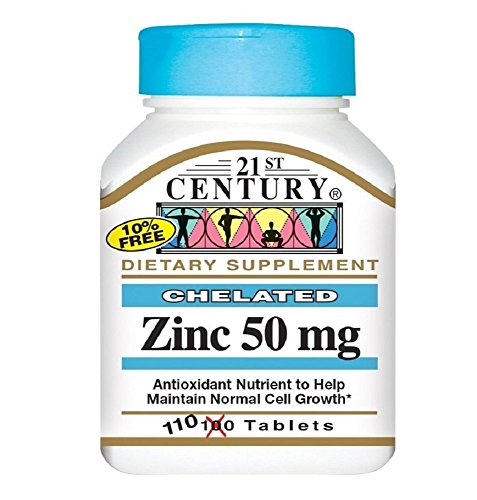 ZINC 50MG CHELATED TAB 110CT 21ST CENT
