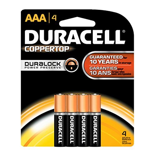 Duracell Coppertop AAA Batteries, 4 Count (Pack of 24)