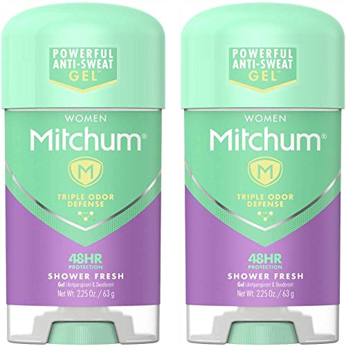 Mitchum for Women Clear Gel Antiperspirant & Deodorant-Shower Fresh-2.25 oz, 2 pk