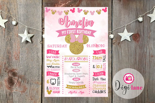 'Mini Minnie'  |  Milestone Birthday Print