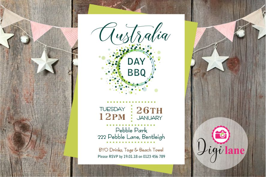 'Dotti Event'  |  Australia Day BBQ Invitation