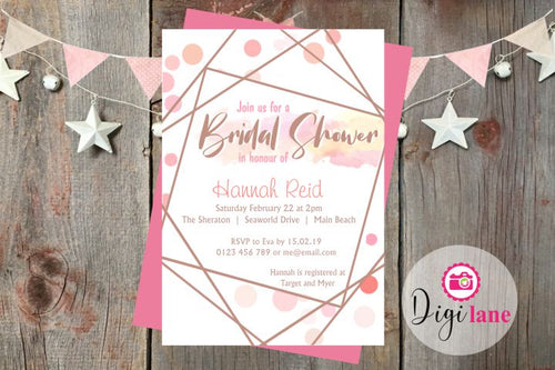 'Geometrical Fun'  |  Bridal Shower Invitation