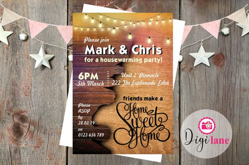 'Home Sweet Home'  |  Housewarming Party Invitation