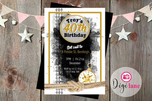 'Mr. Nautical'  |   Birthday Party Invitation