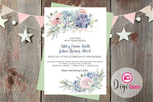 'Lilac Longing'  |  Wedding Invitation