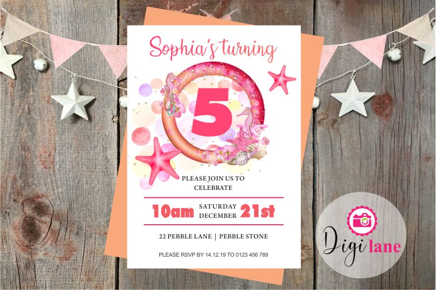 'Stars of the Sea'  |  Birthday Party Invitation