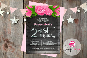 'Vintage Bling'  |  Birthday Party Invitation
