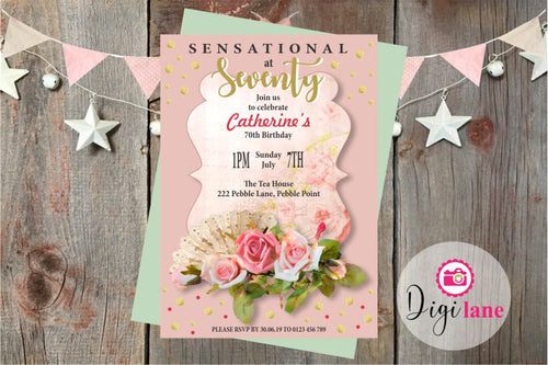 'Sensational at Seventy'  |  Birthday Party Invitation
