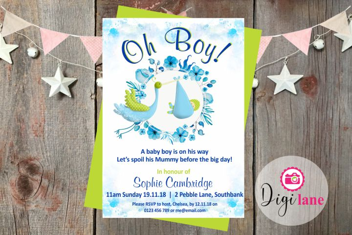 'Oh Boy!'  |  Baby Shower Invitation