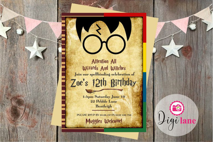 'Spellbinding'  |  Birthday Party Invitation