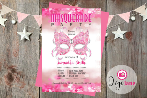 'Get Masked'  |  Masquerade Party Invitation
