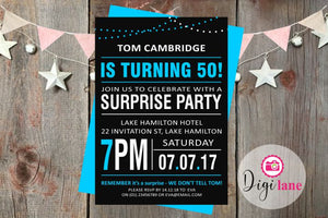 'Poster Boy'  |  Surprise Party Invitation