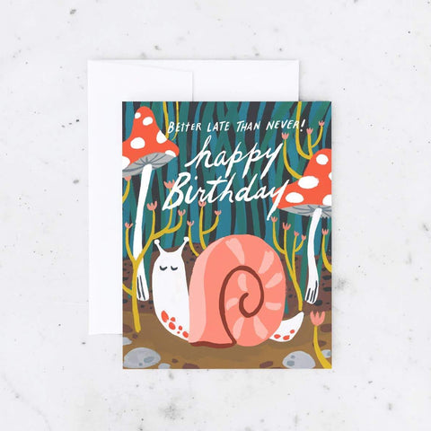 Belated Birthday Snail Card