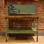 Rehabbed Green Workbench