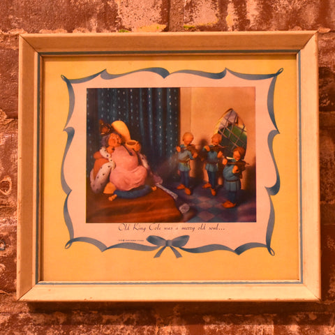 1945 Sass Dorne Studio Framed Nursery Rhymes
