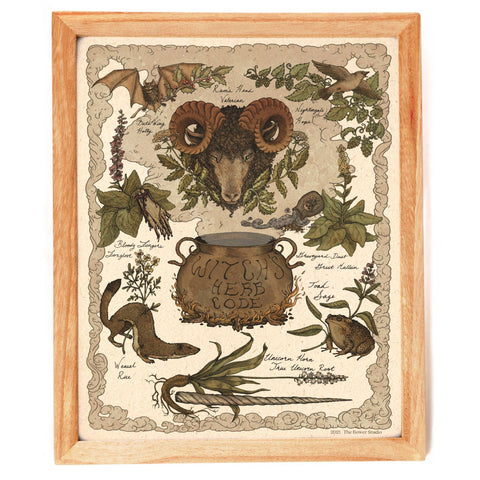 Witch's Herb Code Print - Bower Studio