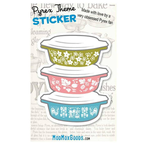 Pyrex Casserole Stack Sticker