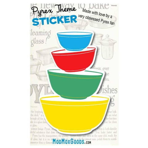 Pyrex Primary Bowls Sticker