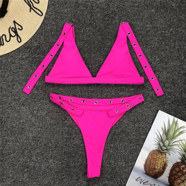 Adjustable Buckle Strap Bikini