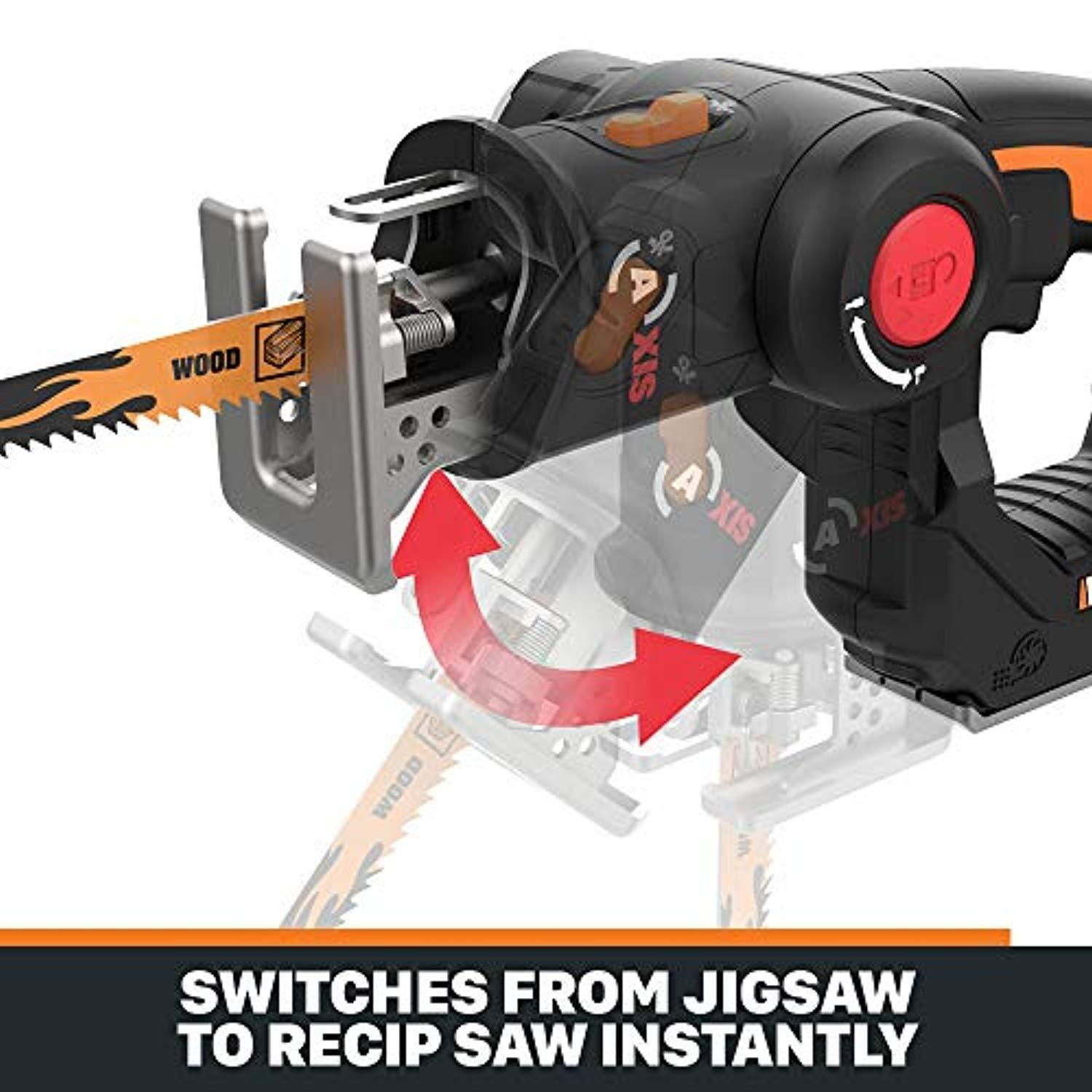 Muti-function 2-in-1 Reciprocating Saw and Jigsaw