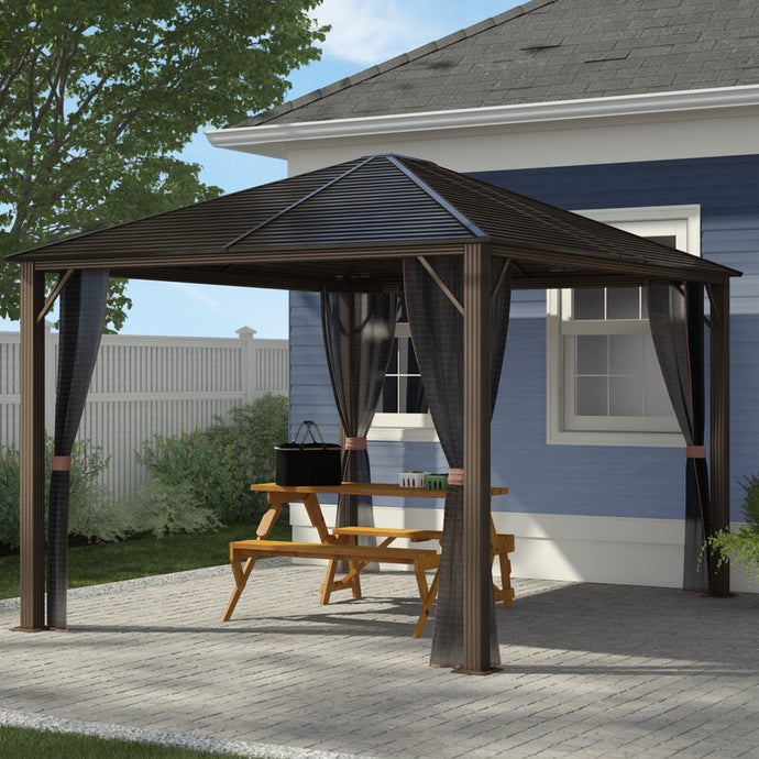 10 Ft. W x 12 Ft. D Aluminum Patio Gazebo - Eco Friendly Ecommerce Store