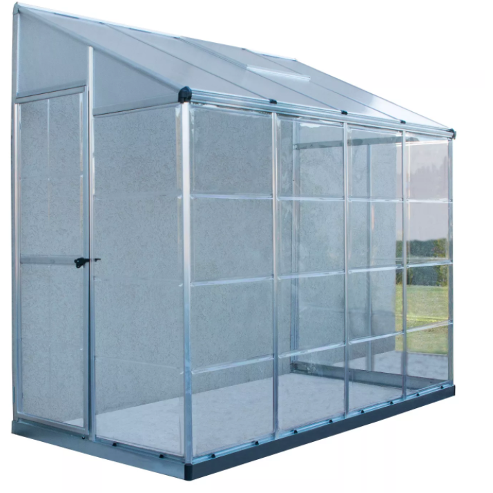 4'X8' Hybrid Lean-To Greenhouse - Silver - Palram - Eco Friendly Ecommerce Store