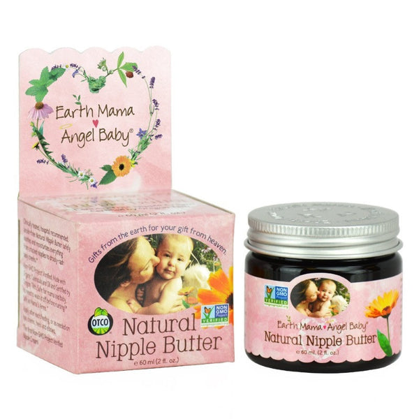 地球妈妈天使宝贝天然乳头黄油霜60ml - Earth Mama Angel Baby Natural Nipple Butter 60ml