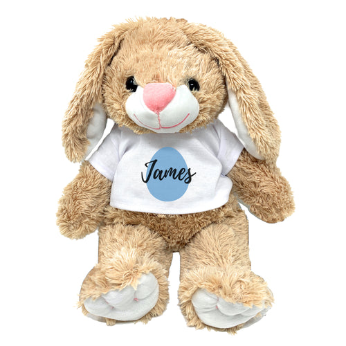 Blue Egg Graphic Personalized Easter Bunny 16