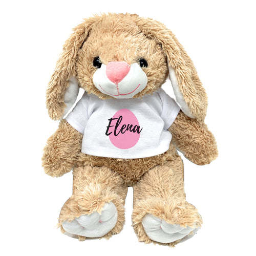 Pink Egg Graphic Personalized Easter Bunny 16