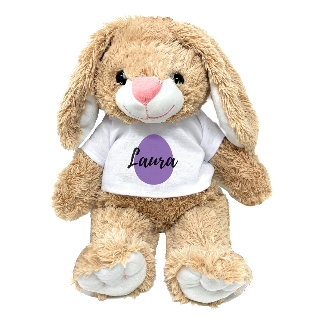 Purple Egg Graphic Personalized Easter Bunny 16