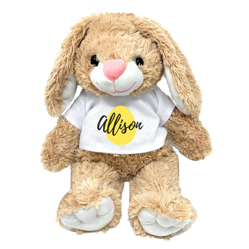 Yellow Egg Graphic Personalized Easter Bunny 16